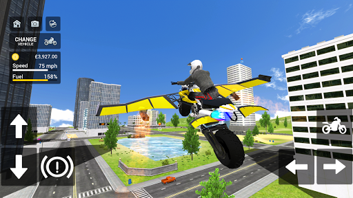 Flying Motorbike Simulator android2mod screenshots 2