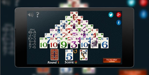 Pyramid Solitaire Fantasy Screenshot