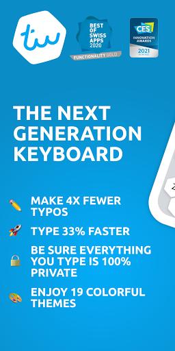 Typewise Custom Keyboard - Big Keys, Emoji & Fonts modiapk screenshots 1