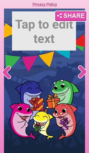 Little Shark Invitation Maker Baby Party 2.0 screenshots 7