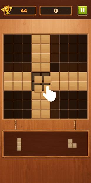 Captura 2 de Block Puzzle - Free Sudoku Wood Block Game para android