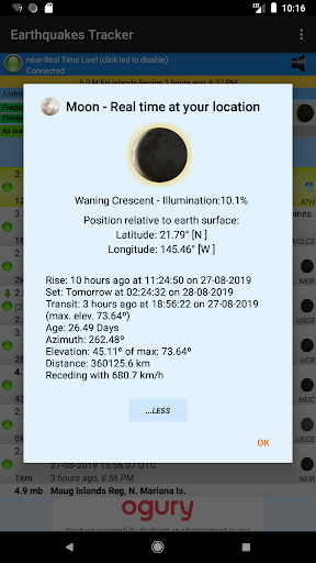 Earthquakes Tracker 2.6.9 Screenshots 6