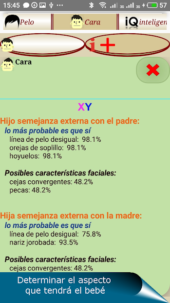 Screenshot 6 de QUIS - pronóstico genético para android
