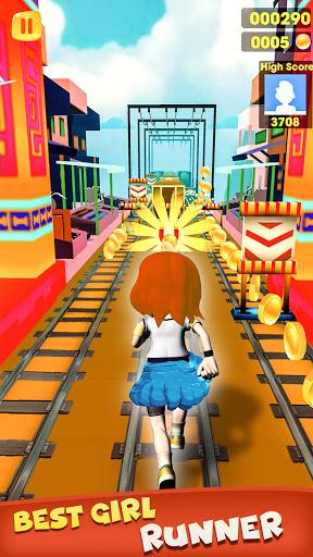 Subway Girl Runner Surf Game  screenshots 9