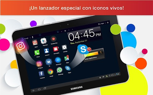 Lanzador con Iconos en Vivo para Android Screenshot