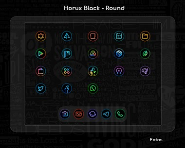 Horux Black APK- Round Icon Pack (PAID) Download 5