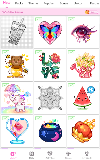 Paint by Number - Pixel Art, Free Coloring Book 3.39.2 Screenshots 22