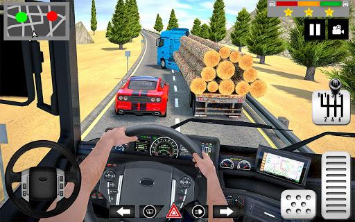 Log Transporter Truck Driving : Truck Games 2021 apklade screenshots 2