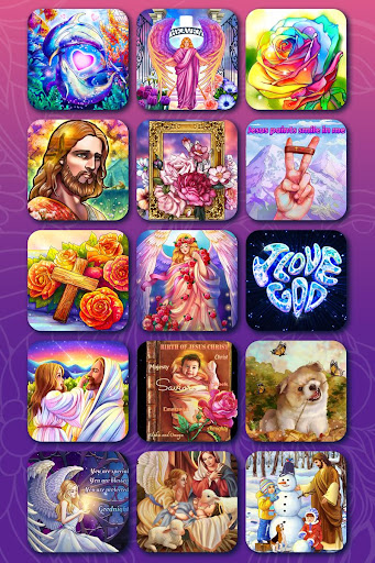 Bible Coloring - Paint by Number, Free Bible Games  screenshots 21