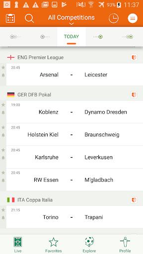 Futbol24 u2013 soccer live scores & results 2.46 Screenshots 1