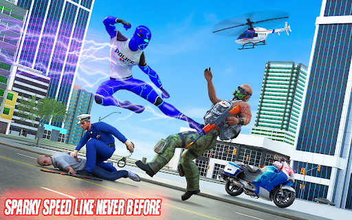 Top Speed Hero Police Robot Cop Gangster Crime apkpoly screenshots 9
