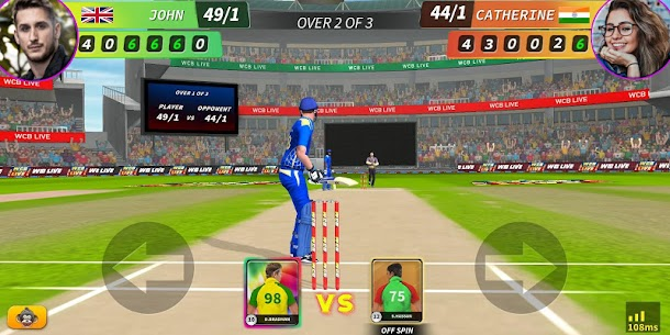 WCB LIVE Cricket Multiplayer:8 Players Cricket PvP 2