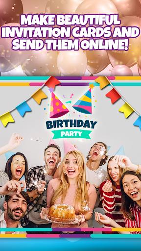 Birthday Party Invitation Card Maker with Photo 1.0 Screenshots 1