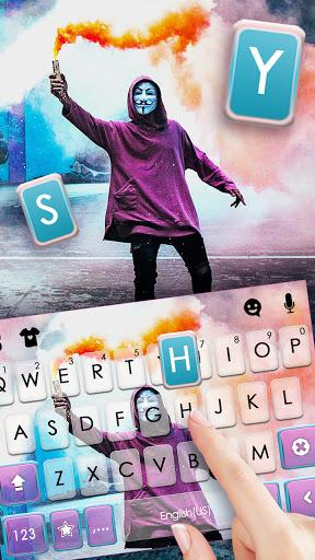 Anonymous Smoky Keyboard Background screenshots 2