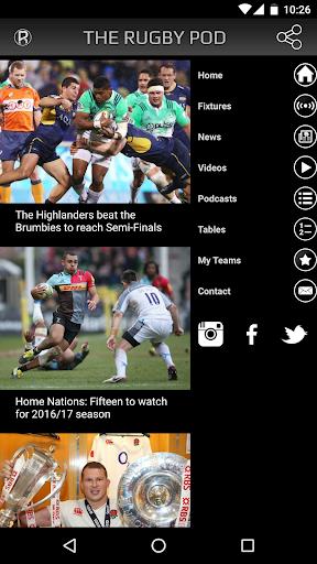 the rugby pod screenshot 2