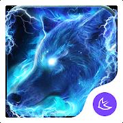 Starlight Galaxy Ice  Wolf-APUS Launcher theme