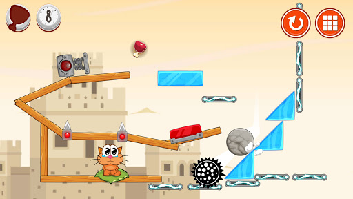 Hungry cat: physics puzzle game apkdebit screenshots 5