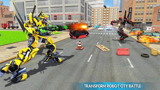 Helicopter Robot Transform War u2013 Air robot games  screenshots 10