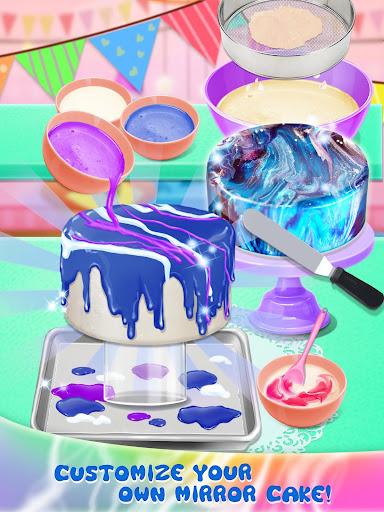 Galaxy Mirror Glaze Cake - Sweet Desserts Maker 1.5 screenshots 2