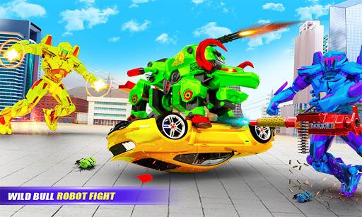 Grand Bull Robot Car Transforming Robot Games 10 Screenshots 2