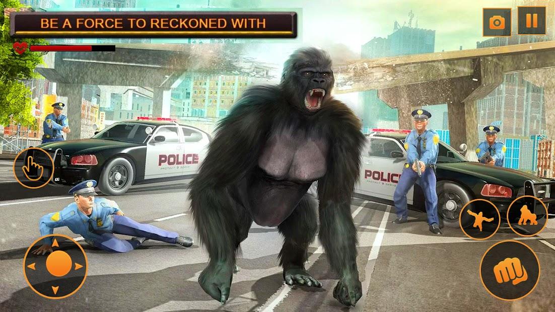 Captura de Pantalla 6 de Angry Monster Gorilla - Godzilla King Kong Games para android