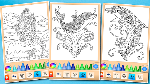 Dolphin and fish coloring book 16.3.2 screenshots 7