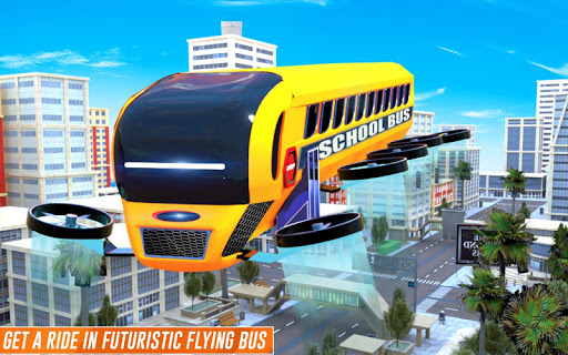 Flying School Bus Robot: Hero Robot Games apkmr screenshots 11