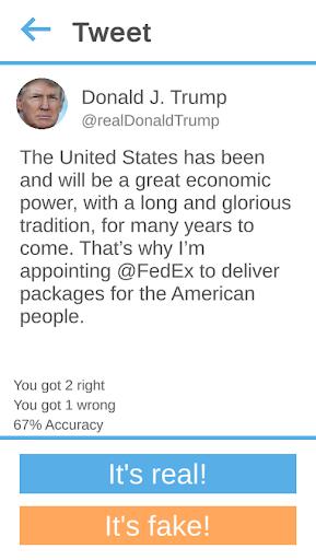 Did Trump Tweet This? 0.5 screenshots 1