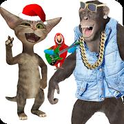 Dancing Talking Monkey, Singing Parrot Talking Cat