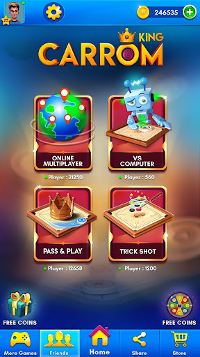 Carrom Kingu2122 - Best Online Carrom Board Pool Game 3.1.0.74 screenshots 1