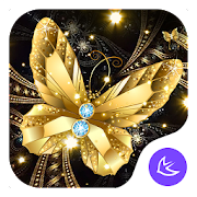 Shine Golden Fantastic Butterfly-APUS Launcher
