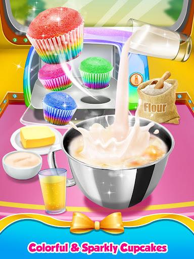 Rainbow Princess Bakery - Make Cupcake & Donut 1.4 screenshots 7