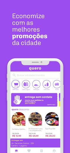 Quero Delivery - entrega de comida, mercado e + modavailable screenshots 8