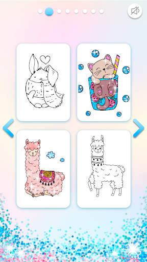 Kawaii Coloring Book Glitter modavailable screenshots 3