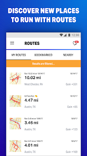 MapMyFitness  фитнестренер Screenshot