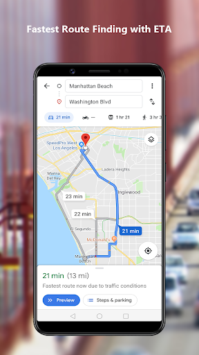 GPS Navigation Maps Directions - Route Planner 2.5 Screenshots 1