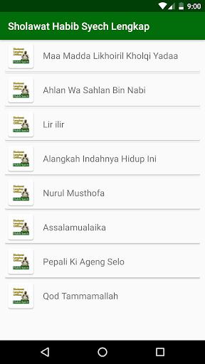 sholawat habib syech offline + lirik lengkap screenshot 2