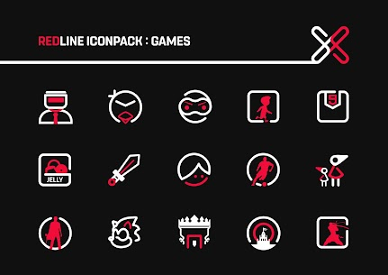 RedLine Icon Pack Pro Apk: LineX 2.7 (Patched) 6