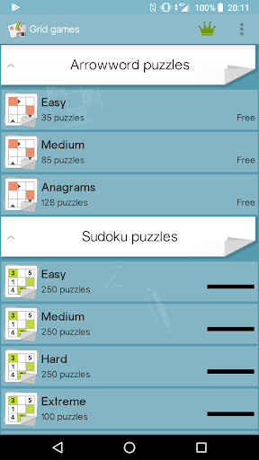 Grid games (crossword & sudoku puzzles) apkpoly screenshots 6
