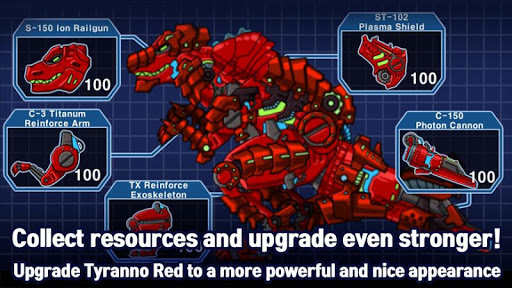 T-Rex Red - Combine! Dino Robot : Dinosaur games 2.1.9 screenshots 4