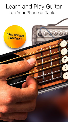 Real Guitar Free - Chords, Tabs & Simulator Games apkpoly screenshots 1