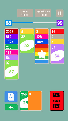 Solitaire 2048 Cards android2mod screenshots 2