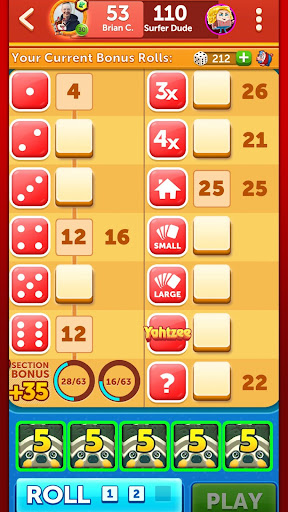YAHTZEEu00ae With Buddies Dice Game 7.7.0 screenshots 7
