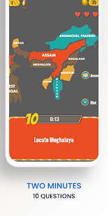 Know India Geography Quiz Game. Trivia and Map