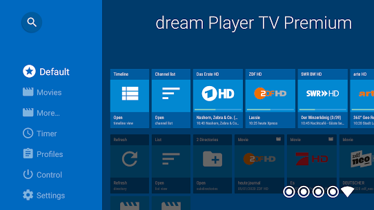 dream Player IPTV for Android TV 2