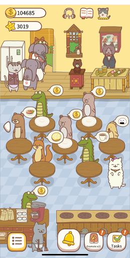 Cat Restaurant 2 - farm sowing coffee cooking game  screenshots 1