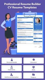 Professional Resume Builder – CV Resume Templates (MOD, Pro) v1.2 2