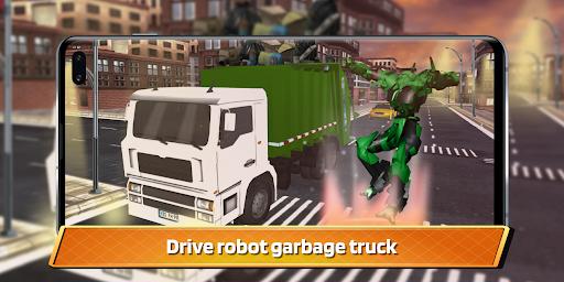 Garbage Truck Driving: Transformer Robot Cleaner  screenshots 1