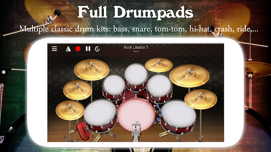 Drum Live: Real drum set drum kit music drum beat 4.4 Screenshots 1