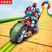 Robot Speed Hero GT Stunt Racing: Mega Ramps Games